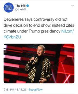 She's blaming Trump.