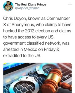 """Could """"Commander X"""" of Anonymous have contributed to the 2020 election computer"""