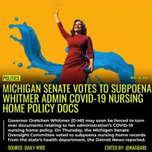 Michigan's Democrat Governor Gretchen Whitmer may soon be forced to turn over do