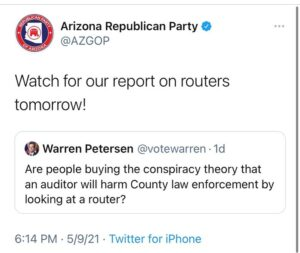 Arizona to come out with report on routers tomorrow