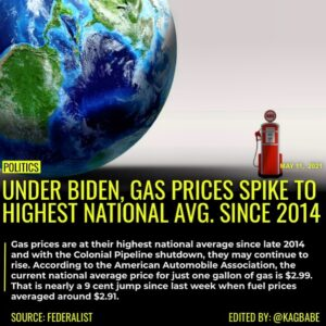 Gas prices are at their highest national average since late 2014 and with the Co