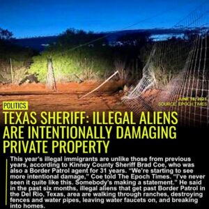 KINNEY COUNTY, Texas—This year's illegal immigrants are unlike those from previo