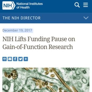 Dr. Fauci lied under oath while claiming the NIH & NIAID 'have not funded gain o