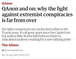 Read more about the article C O P E   QAnon and on: why the fight against extremist conspiracies is far from