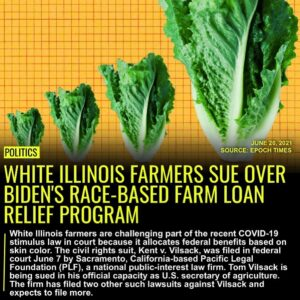 Read more about the article White Illinois farmers are challenging part of the recent COVID-19 stimulus law