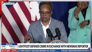 Read more about the article Failed Chicago Mayor Lightfoot Berates Reporter, Lies when Confronted about Record Shootings and Murders in the Windy City (VIDEO)