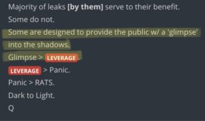 Read more about the article Majority of leaks [by them] serve to their benefit. Some do not. Some are design