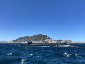 The @USNavy submarine #USSAlaska (SSBN 732) arrived at the Port of Gibraltar, Ju
