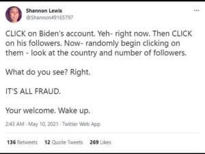 Read more about the article CLICK on Biden's account. Yeh- right now. Then CLICK on his followers.