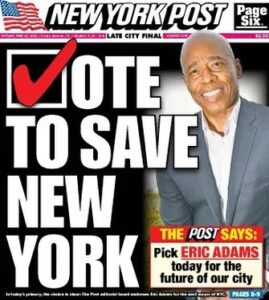 """Read more about the article The """"Conservative"""" Nyc paper endorsed a Democratic… (sigh)"""