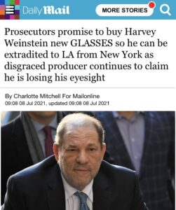 Read more about the article The absolute state of Harvey Weinstein.  OH GOD OH FUGG I CANT SEE
