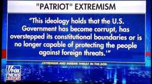 Read more about the article This is fox news. Truth telling is patriot extremism.