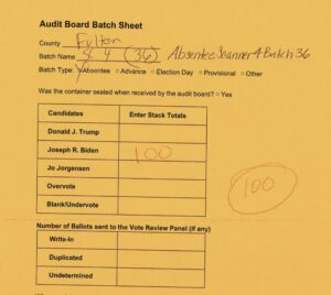 """""""But it is not simply a case of errors. The VoterGA team found 7 falsified audit"""
