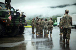 Read more about the article U.S. @PacificMarines take service members to Combined Arms Training Center to be