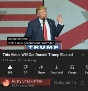 HORI SHIDDDDD RUSTY SHACKLEFORD JUST POSTED THIS VIDEO TO HIS YOUTUBE CHANNEL