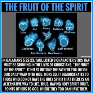Read more about the article A good reminder. ・・・ The fruit of the Spirit, found in Galatians 5:22-23, is mad
