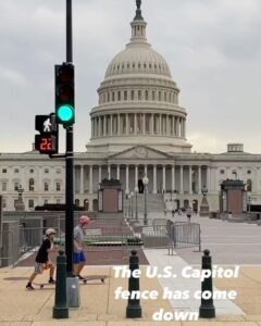 Read more about the article After over 6 months, the security fence surrounding the U.S. Capitol has been ta