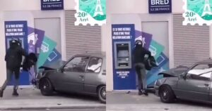 Read more about the article Bandits Crash Car Into Bank During Botched Robbery in Paris