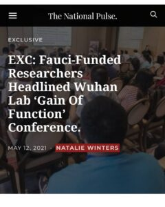 Read more about the article Something smells fauci.. A press release from the Wuhan Institute of Virology –