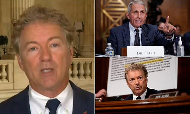Rand Paul says he has written to the DOJ seeking a criminal referral of Dr. Fauc