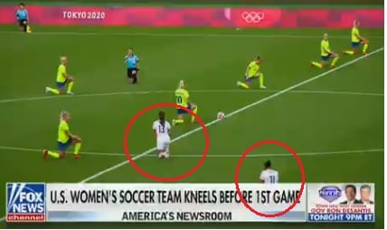 US Women's Soccer Team Took Knee During Anthem Before Getting Spanked by Swedish Team 3-0 in Olympic Opening