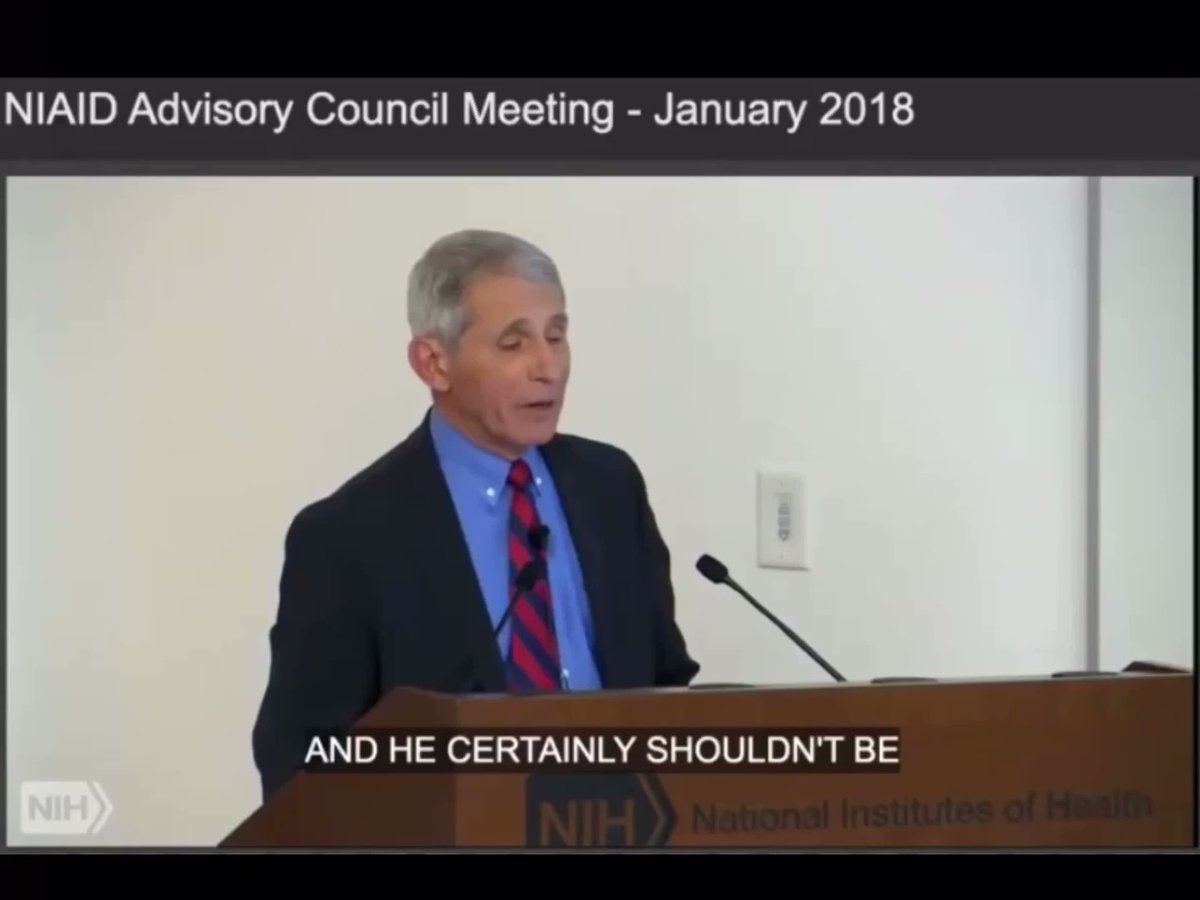 LIAR FAUCI BUSTED: 2018 Video Shows Dr. Fauci REINSTATING Gain-of-Function Resea