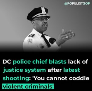 """Read more about the article Washington, D.C., police chief Robert Contee declared himself """"mad as hell"""" Frid"""