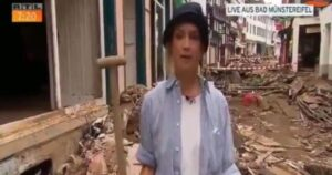 Read more about the article German TV News Reporter Suspended After Video Shows Her Smearing Herself With Mud in Flood-Hit Town