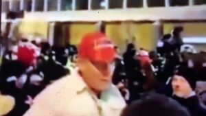 Wow! Suspected under cover FBI agent posing as a Trump supporter tries to incite