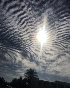 A friend sent this to me from the sky in Orange County this morning