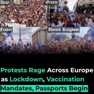 Anti-lockdown and anti-vaccine passport protests erupted across Europe on Saturd
