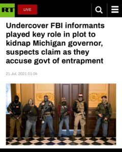 Read more about the article – Undercover FBI informants played key role in plot to kidnap Michigan governor,