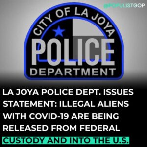 Read more about the article BREAKING:  A border city police department warned residents about groups of ill