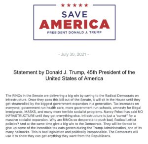 """Read more about the article NEW 45:  """"The RINOs in the Senate are delivering a big win by caving to the Radi"""