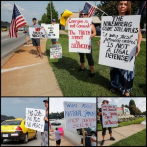 Read more about the article Protest against mandatory jabs outside Mercy Hospital in Missouri