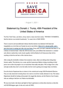 """Read more about the article NEW statement from 45.   """"Much of it is already public, and a great deal more is"""