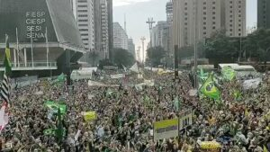 Read more about the article Brazil  President Bolsonaro supporters nationwide rally for change to Brazil's v