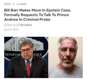 Read more about the article A year and 1 month ago   Bill Barr Makes Move In Epstein Case, Formally Requests