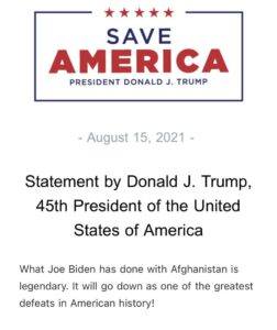 Read more about the article INBOX – Trump statement on Afghanistan.