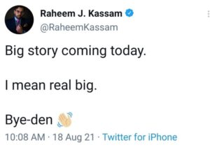 Read more about the article SHIT OR GET OFF THE POT RADIO @RaheemKassam   All that shitting on q you did, an