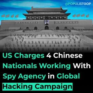 Read more about the article The Epoch Times reported:  Four Chinese nationals working with China's top intel