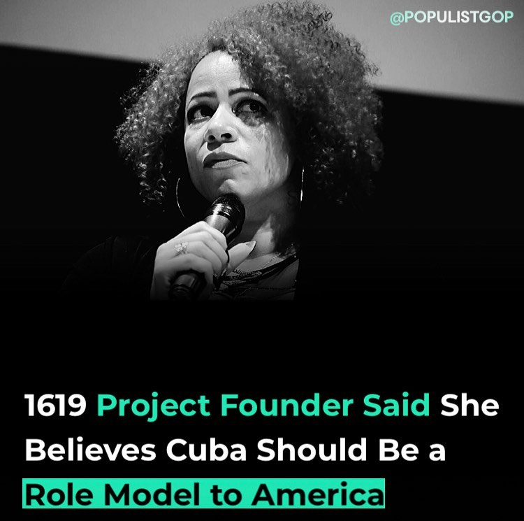 """You are currently viewing 1619 Project founder Nikole Hannah-Jones claimed that """"largely due to socialism"""""""
