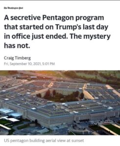 Read more about the article A secretive Pentagon program (DODIN) that started on Trump's last day in office