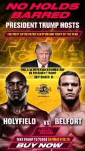 Read more about the article It's almost go time. Tune in on any cable ppv for Triller Fight Club with POTUS