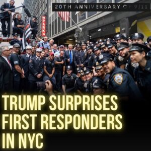 Read more about the article 45th President Donald J Trump surprises  &  first responders on the 20th anniver
