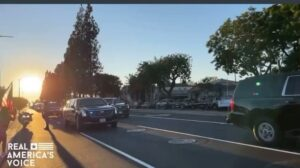 Read more about the article Joe Biden's motorcade gets booed at in Long Beach, California.