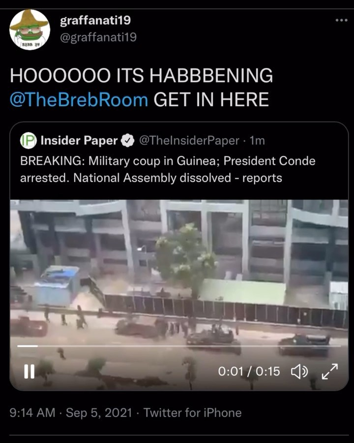 You are currently viewing Yea, I'm thinking it's coup season.  Smells like Myanmar, Patriots in control. 1