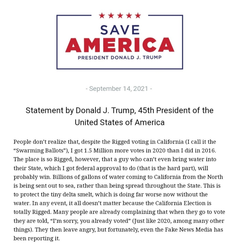 """You are currently viewing NEW!  President Trump:  """"People don't realize that, despite the Rigged voting in"""