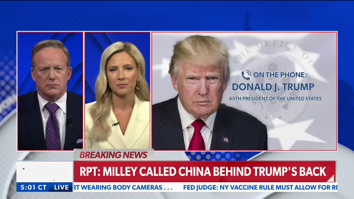 You are currently viewing BREAKING: Trump on Chairman of Joint Chiefs of Staff Gen Milley allegedly warnin