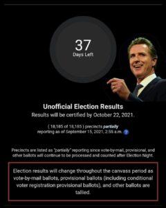 Read more about the article Just like the 2020 race, California called it waaaaaaaay too early. 37 days unti